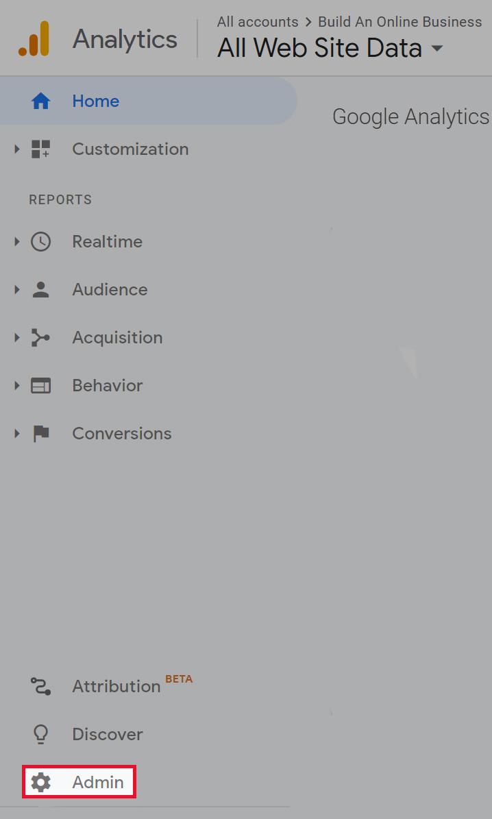 Google Analytics: Admin